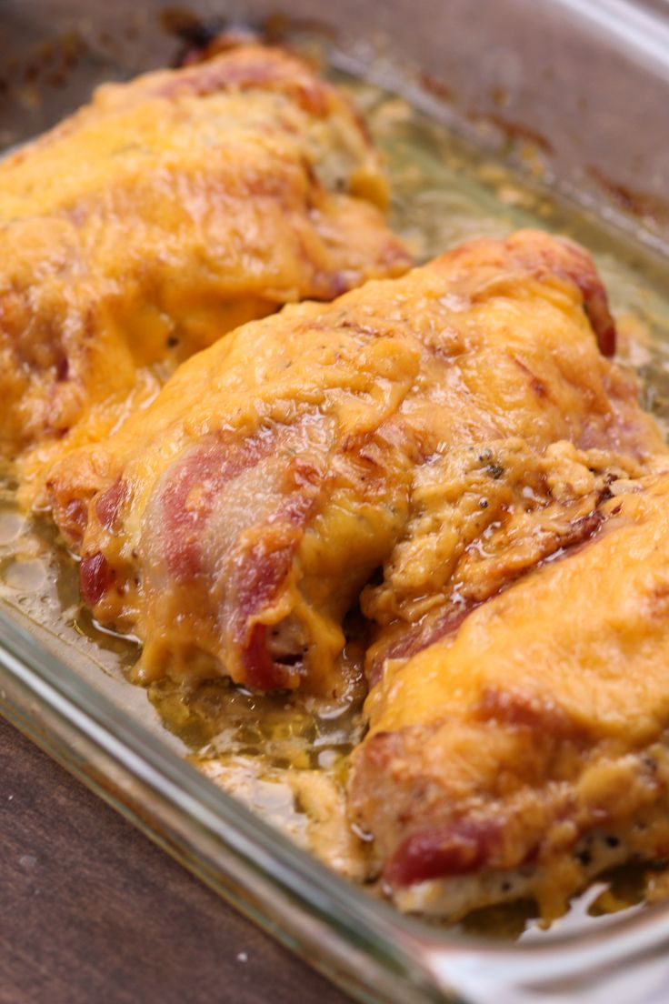 Bake chicken breasts in bacon