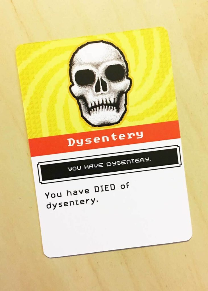 Oregon Trail Dysentery Card