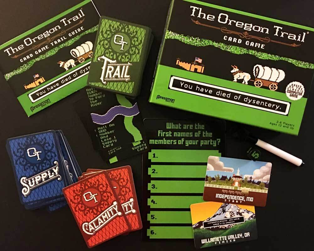 Oregon Trail Card Game Contents
