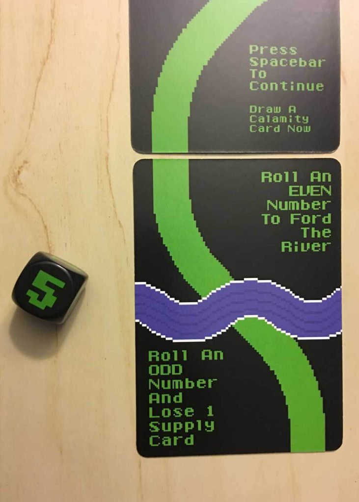 Oregon Trail River Card